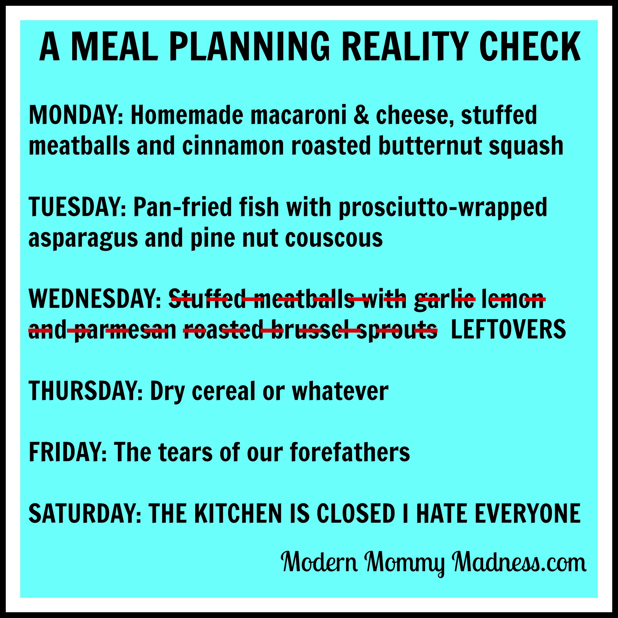 Image result for meal planning meme
