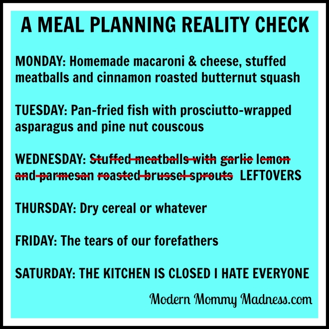 A Meal Planning Reality Check.
